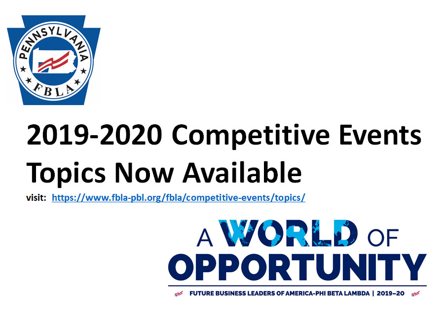 2019-2020 Competitive Events Topics Now Available