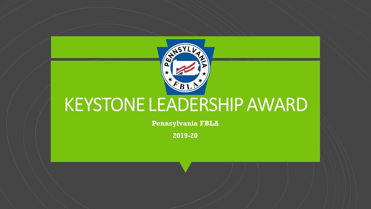 Keystone Leadership Award, 2019-20