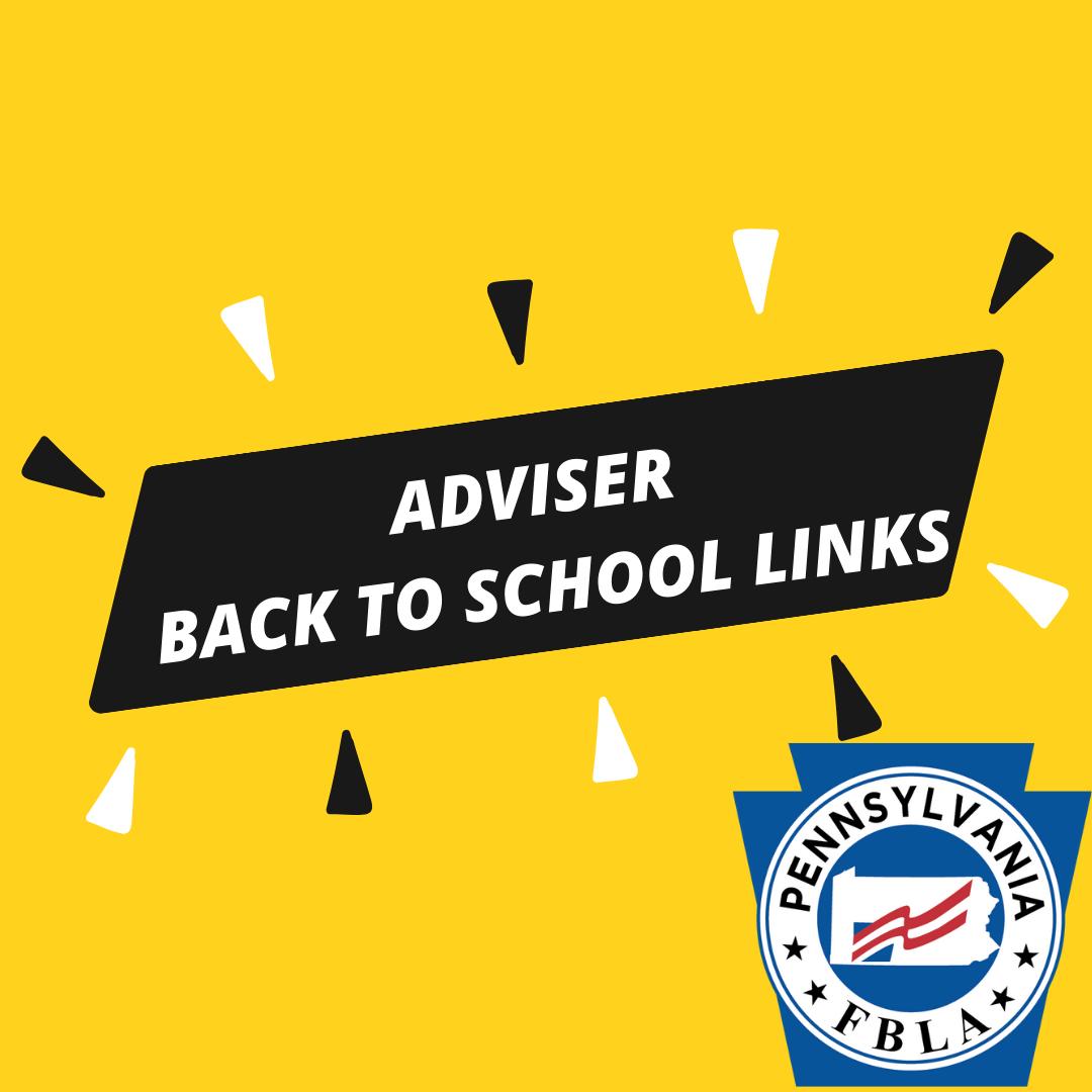 Adviser Back-to-School Links